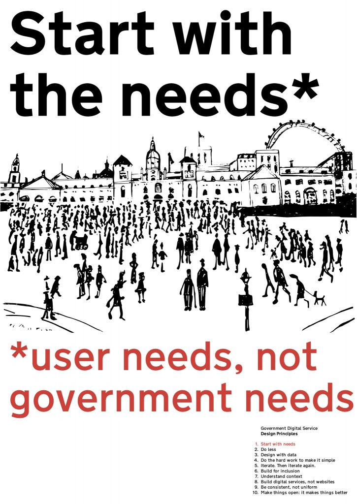 start with user needs not government needs