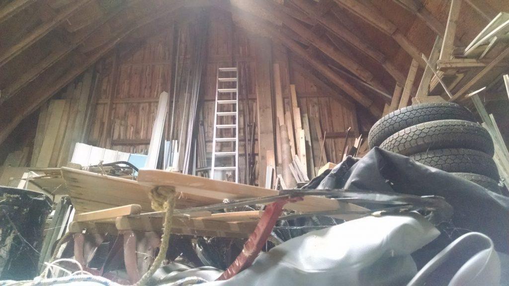 messy attic