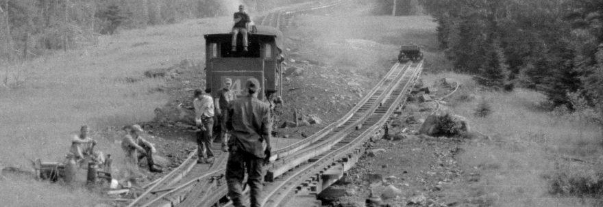 railway tracks being laid