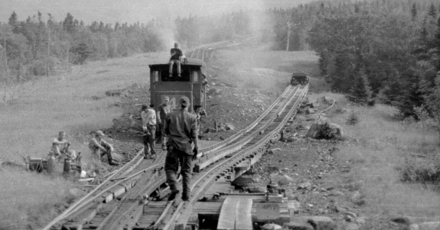 railway tracks being laid